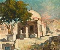 tombeau d'un marabout, le caire by emile baes