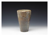 wide-mouthed vase by miyanohara ken