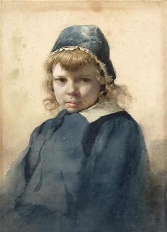 portrait of a child by lawrence carmichael earle