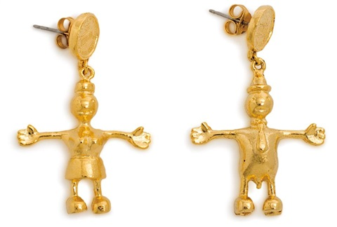 earrings pair by tom otterness