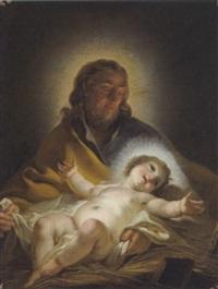 der heilige joseph mit dem jesusknaben by joseph melling