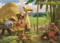 harvest time by fernando cueto amorsolo