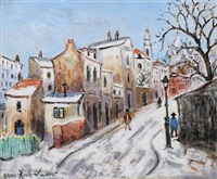 rue à montmartre by bruno emile laurent