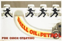shell oil and petrol, for quick-starting (poster) by posters: advertising - shell oil