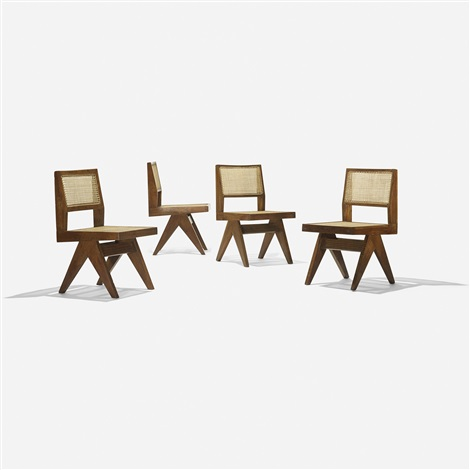 Chairs from Chandigarh set of 4 by Pierre Jeanneret on artnet