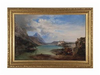 lake lugano by james vivien de fleury