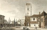 friedhof bei der marienkirche by zygmunt vogel
