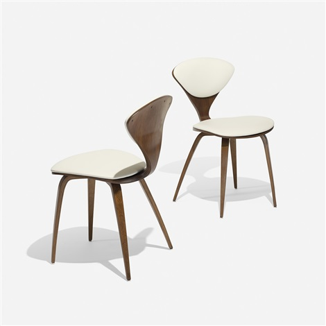 Dining Chairs, Pair By Norman Cherner