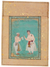 emperor akbar with a courtier by manohar