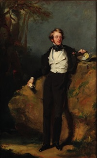 portrait of a fashionable young by james john hill