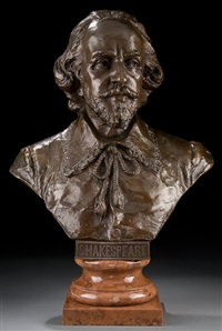 bust of shakespeare by h. muller