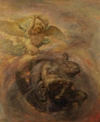 combat céleste by auguste (maurice françois giuslain) léveque