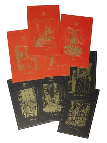 the red boxers cards set of 8 by gilbert and george