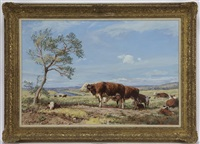 hereford cows and calves by arthur weaver
