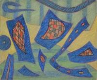 sans titre vert et bleu by henri bernard goetz