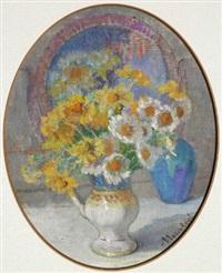 nature morte au vase de fleurs by marie marguerite reol