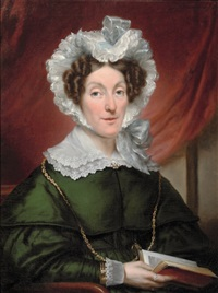 lady in green by jan adam janszoon kruseman