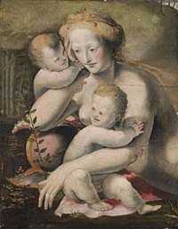 venus with two putti by domenico beccafumi