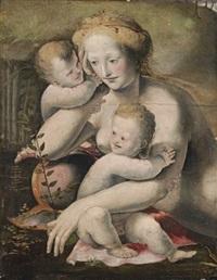 venus with two putti by domenico beccafumi