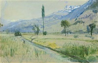 vouverie, france by john william inchbold