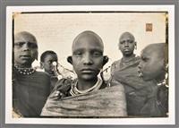 photograph of majai girls by peter beard