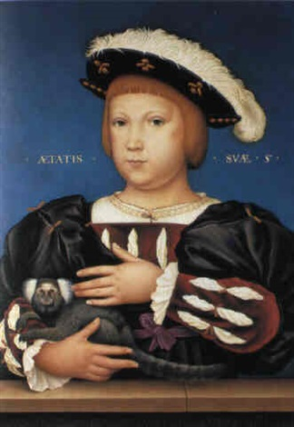 edward prince of wales with monkey by hans holbein the elder