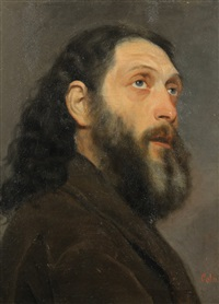 portrait of a russian man by alberto colucci