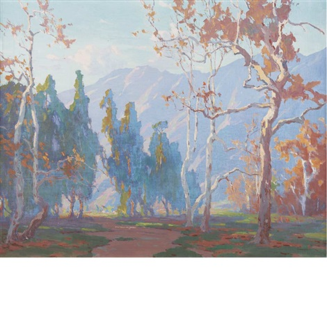 landscape with mountains by marion kavanaugh wachtel