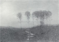 fog lifting, sunrise by robertson k. mygatt