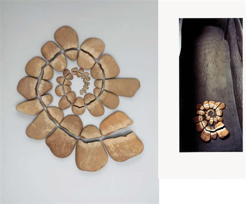 british museum - stonework (+ stonework, 27 pebbles, various sizes; 2 works) by andy goldsworthy