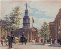 the national portrait gallery and st. martin's in the fields by w.h. simpson