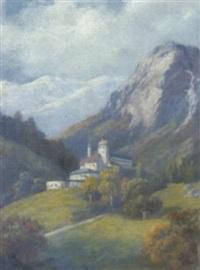 burg im hochgebirge by heinrich dendl