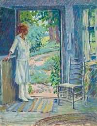 young girl by a doorway by harriette bowdoin