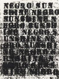 study for negro sunshine #77 (study) by glenn ligon