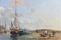 troupeau en bord de mer by charles louis morin