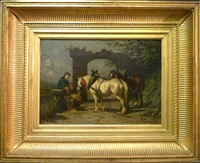 la halte des chevaux by willem jacobus boogaard