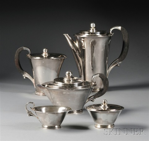 pyramid coffee service by georg jensen co
