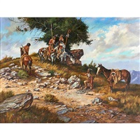 american indian scene by james hutchinson
