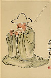 渔翁图 (seated fisherman) by qi baishi