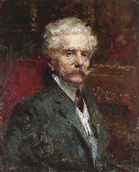 portrait of the furniture designer carlo zen by giuseppe amisani