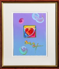 acrylic and collage on paper by peter max