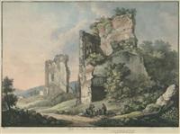 vestiges des bains de tite à rome by franz hegi