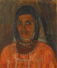 portrait de femme d'afrique du nord by georges andre klein