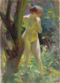 Female nude outdoors, 1894