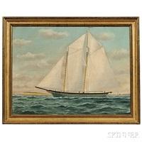 portrait of the schooner island home by william pierce stubbs