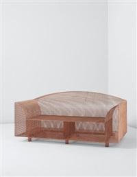 rare 'how high the moon' two-seater sofa by shiro kuramata