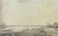 view of garden reach and the hooghly from the governor-general's house, calcutta by robert hyde colebrooke