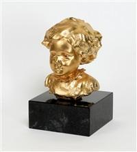 mädchenportrait der künstlerin maria gellini, vollplastischer by gustinus ambrosi