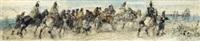 schlachtenszene mit berittenen soldaten (+ another, similar; 2 works) by sebastiano de albertis