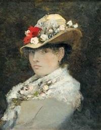 le chapeau fleuri by octave alfred saunier